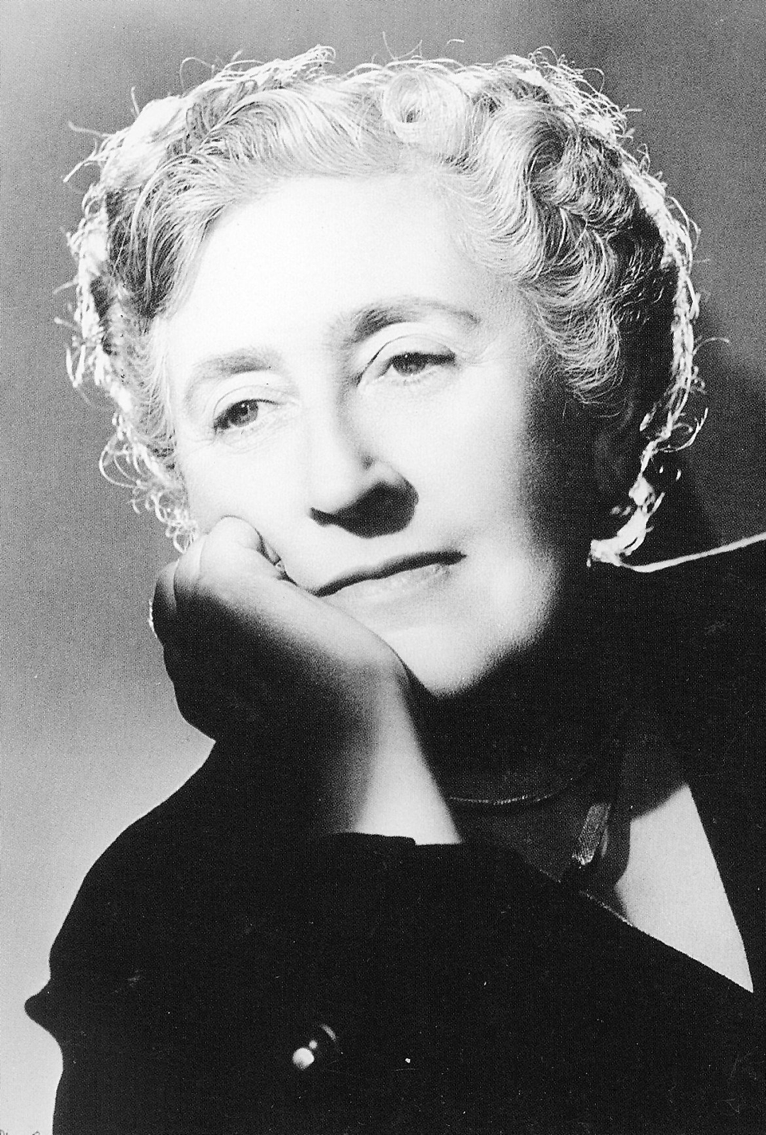 A portrait of Agatha Christie, Queen of Crime, born in Torquay
