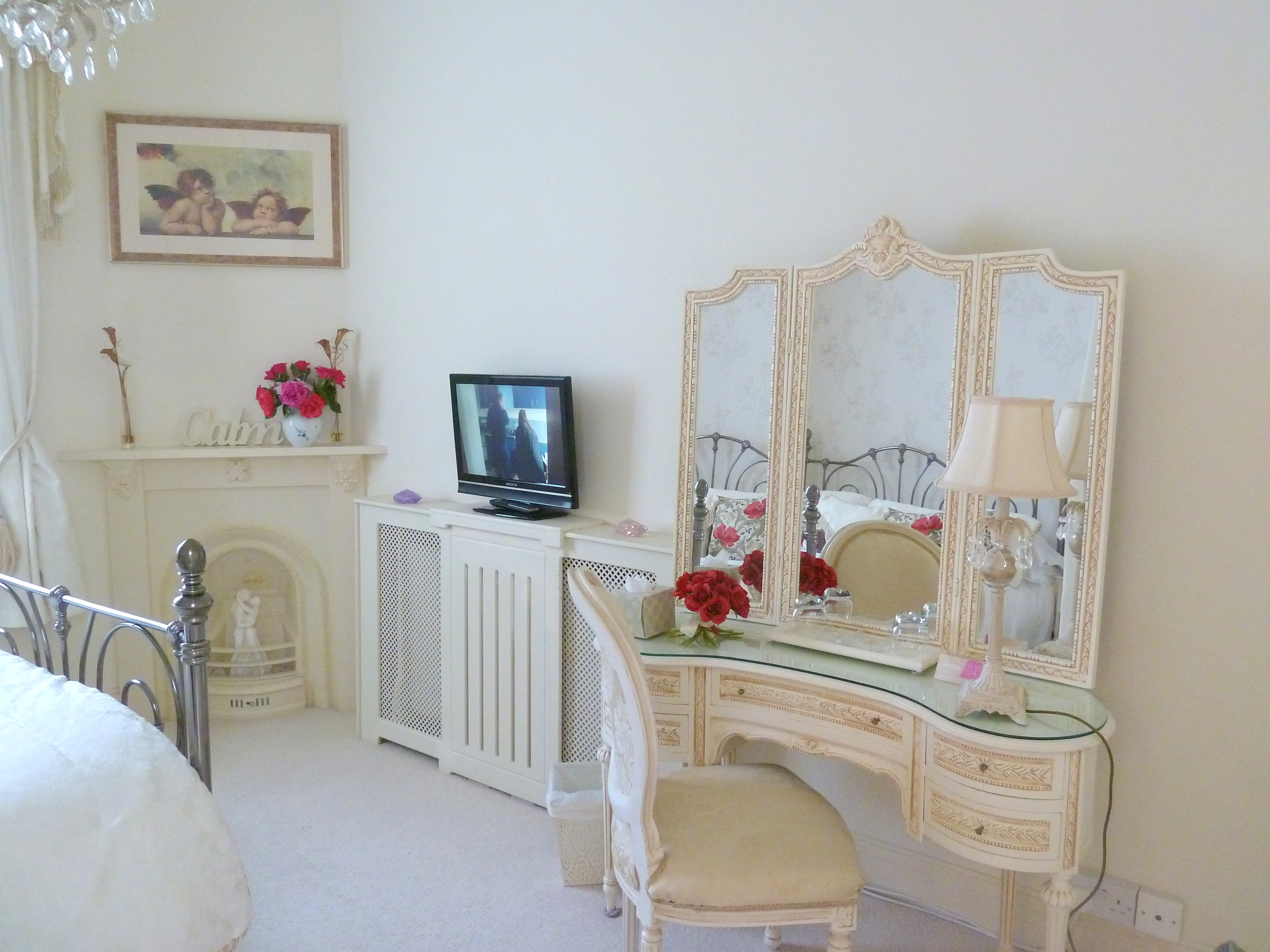 The bedroom at The Hesketh Crescent Holiday Apartment in Torquay.