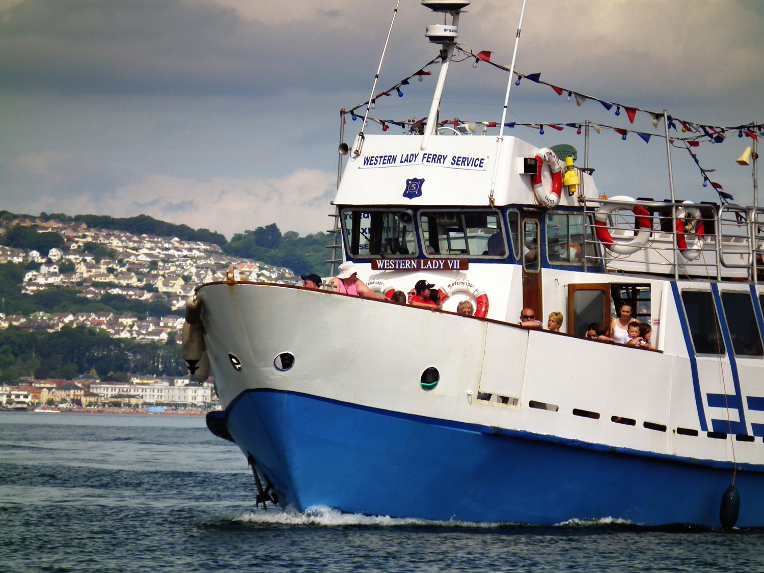 Passenger ferry services across Torbay linking the English Riviera towns - a great way for people on short breaks to travel in the spring,summer and autumn
